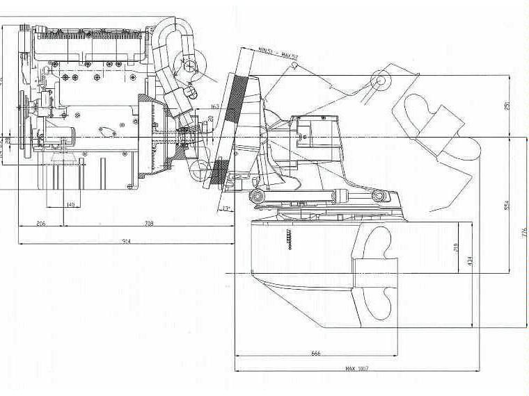 MOTOR DIESEL LOMBARDINI KOHLER LDW 194 JMT (180 CV) + COLA