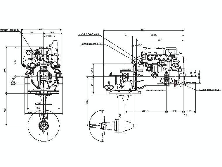 Motor yanmar intraborda 28CV 3gm30 con cola S d'occasion