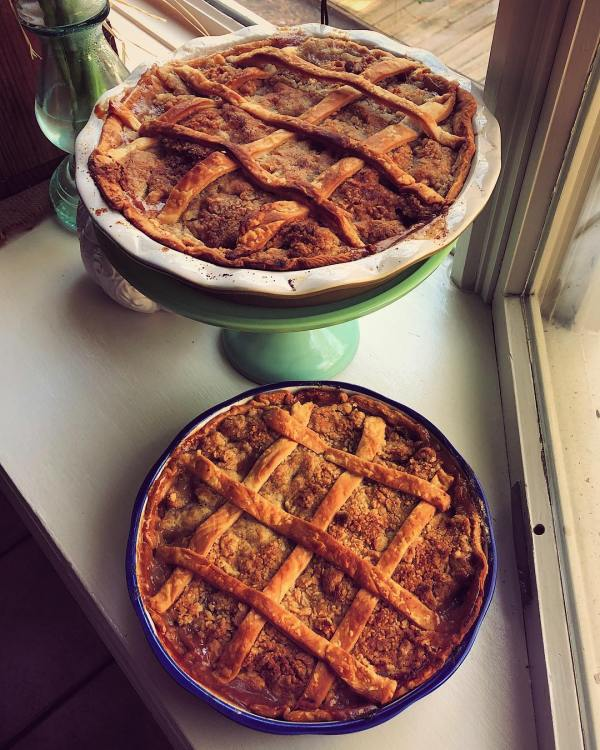 Added a lattice this year to my customary apple pie. Gotta up my game.