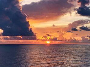 Mid-Atlantic painted sunset. Yowzaz.