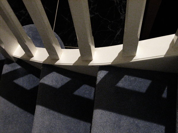 Shadow on the stairs