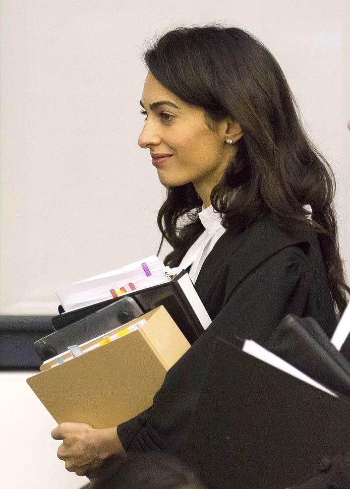 Amal Clooney back in court today arguing for Armenia in case against Dogu PerincekLainey Gossip
