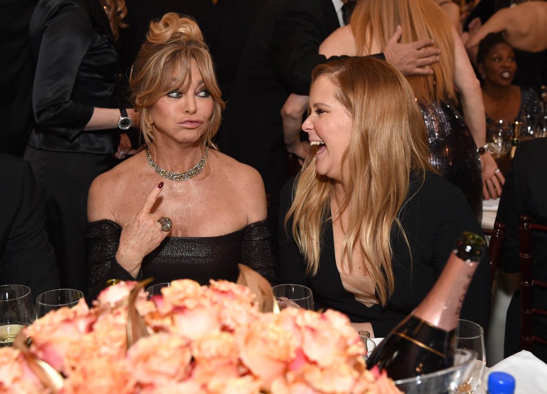 Amy Schumer And Golhawn Clicked At Golden Globes