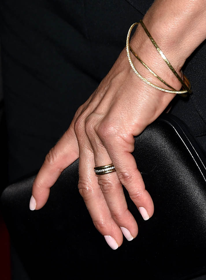 Jennifer Aniston and her wedding band at Shes Funny That