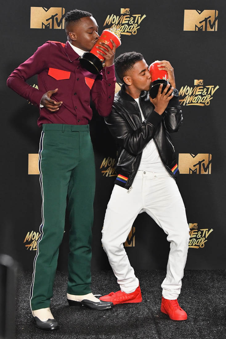 Ashton Sanders and Jharrel Jerome win Best Kiss Award for