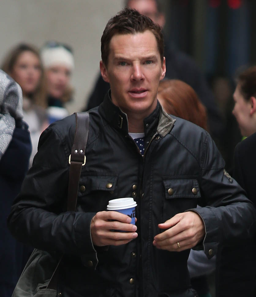 Benedict Cumberbatch Out In London With Shorter Hair As