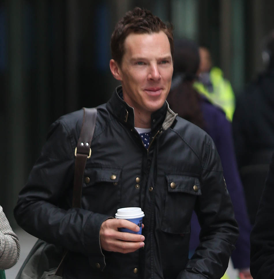 Benedict Cumberbatch out in London with shorter hair as first image of Sophie Hunters Valentino