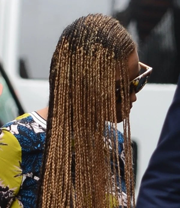 Beyonces Long Braids Before Kanye Wests WeddingLainey