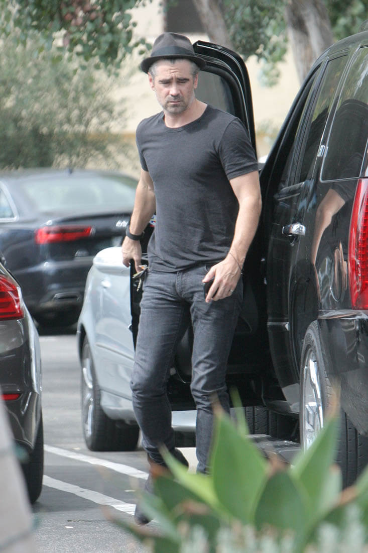 Colin Farrell out in LA with his girlfriend almost a year