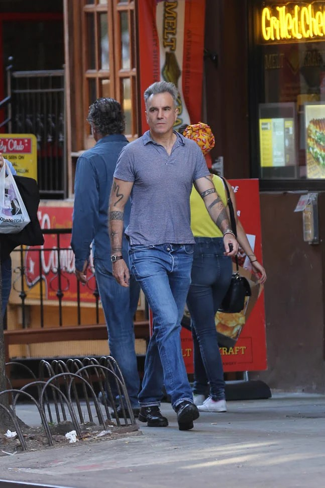 Daniel Day Lewis Out In New York With Great HairLainey
