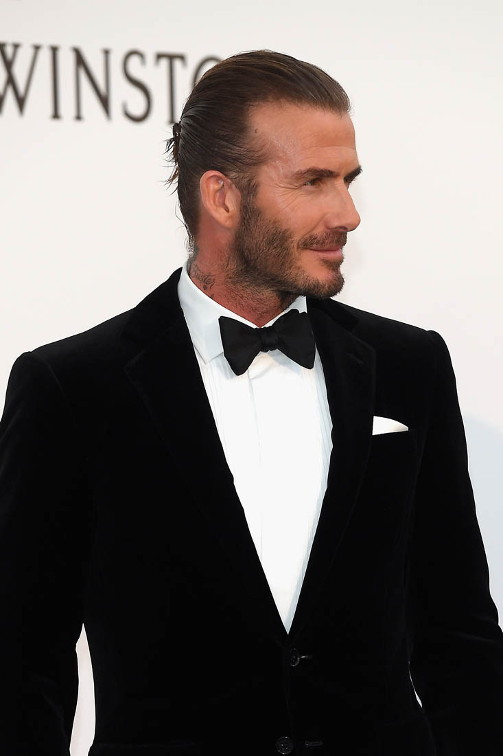 David Beckham At Cannes AmfAR Gala For The First Time