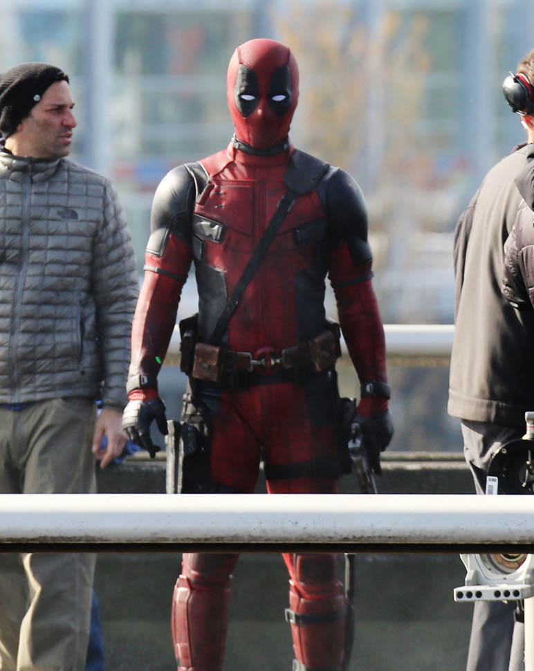 Ryan Reynolds in costume on set of Deadpool confirms film will be rated RLainey Gossip