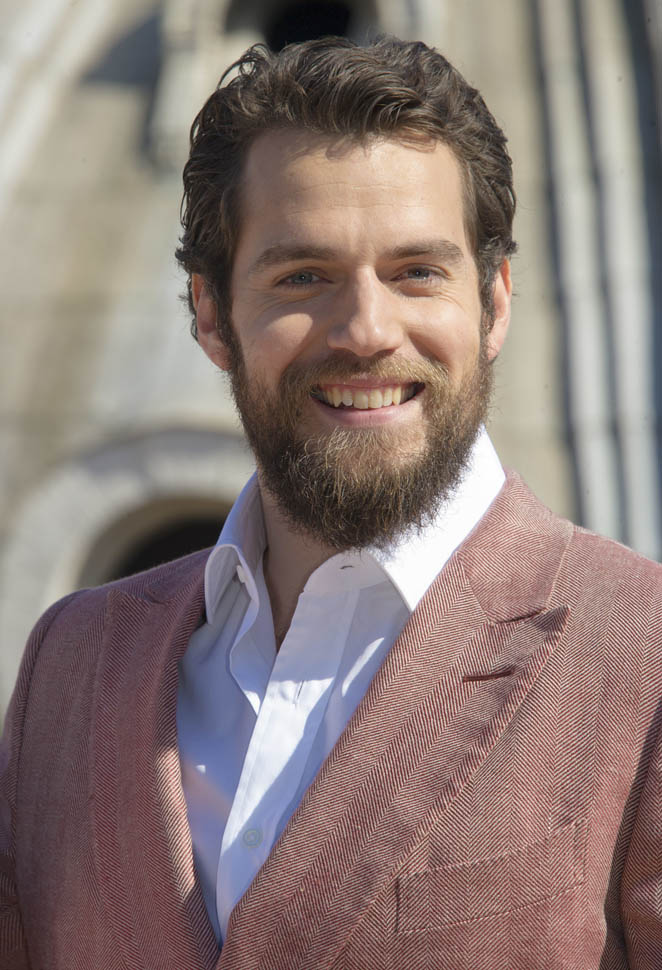 Henry Cavill in rose and manila at The Man From UNCLE