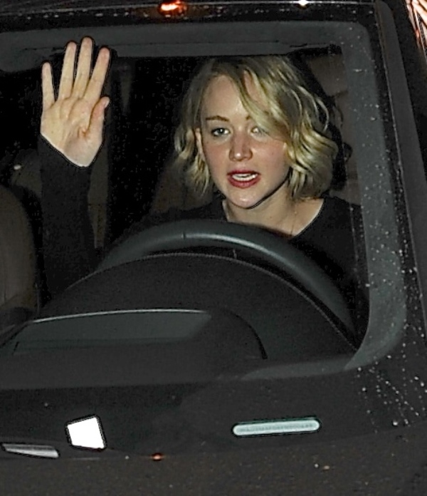Jennifer Lawrence goes for dinner movies and buys new