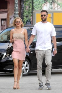 Jennifer Lawrence And Cooke Maroney Hold Hands In Paris