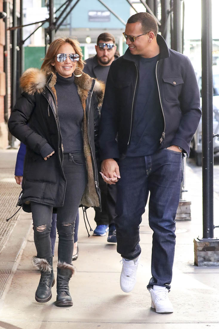 Jennifer Lopez And Alex Rodriguez In New York With JLOs