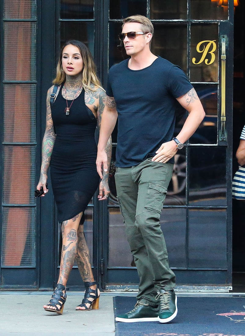 Aaron Rodgers Joel Kinnaman out in London ahead of Suicide Squad ...