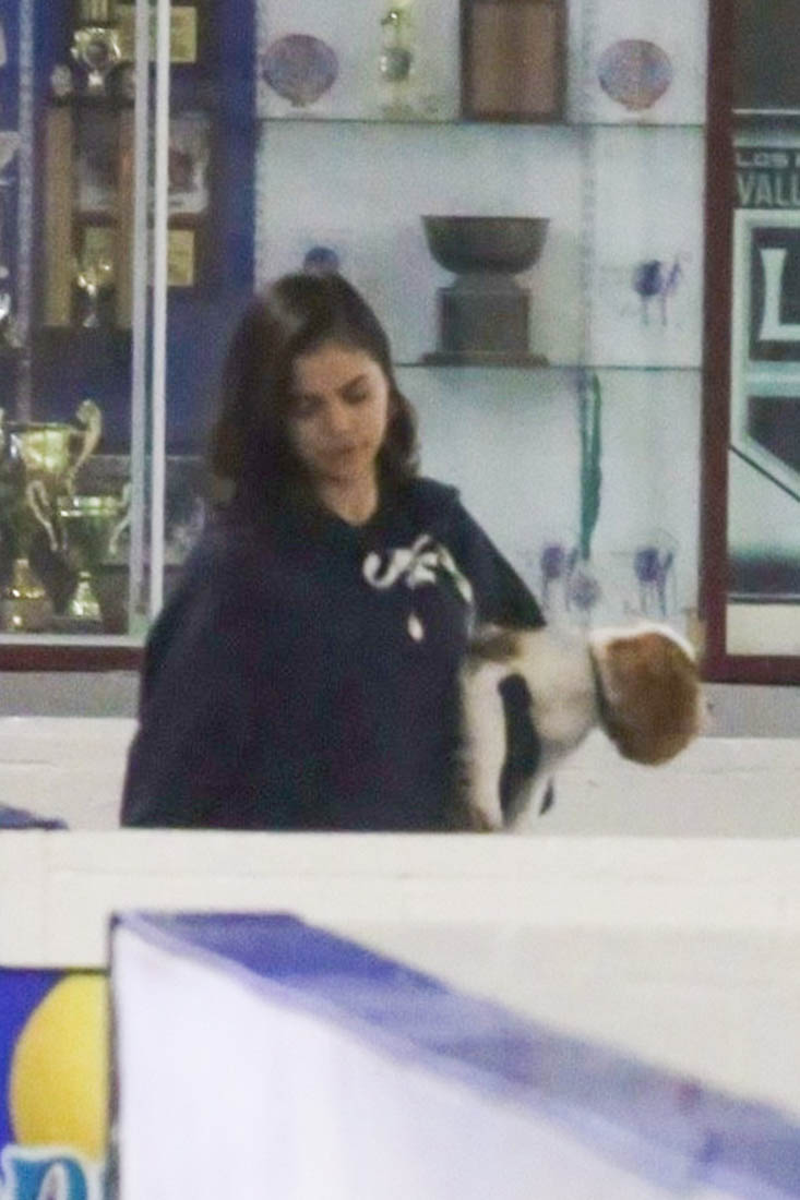 Selena Gomez watches Justin Bieber play hockey after The Weeknd is spotted at Bella Hadids