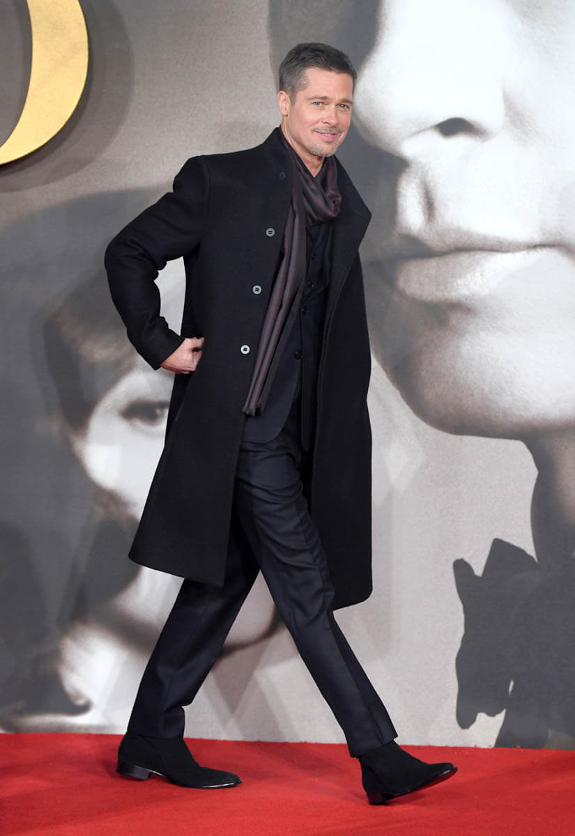 Brad Pitt Looking Lean And Stylish At The UK 'Allied' Premiere
