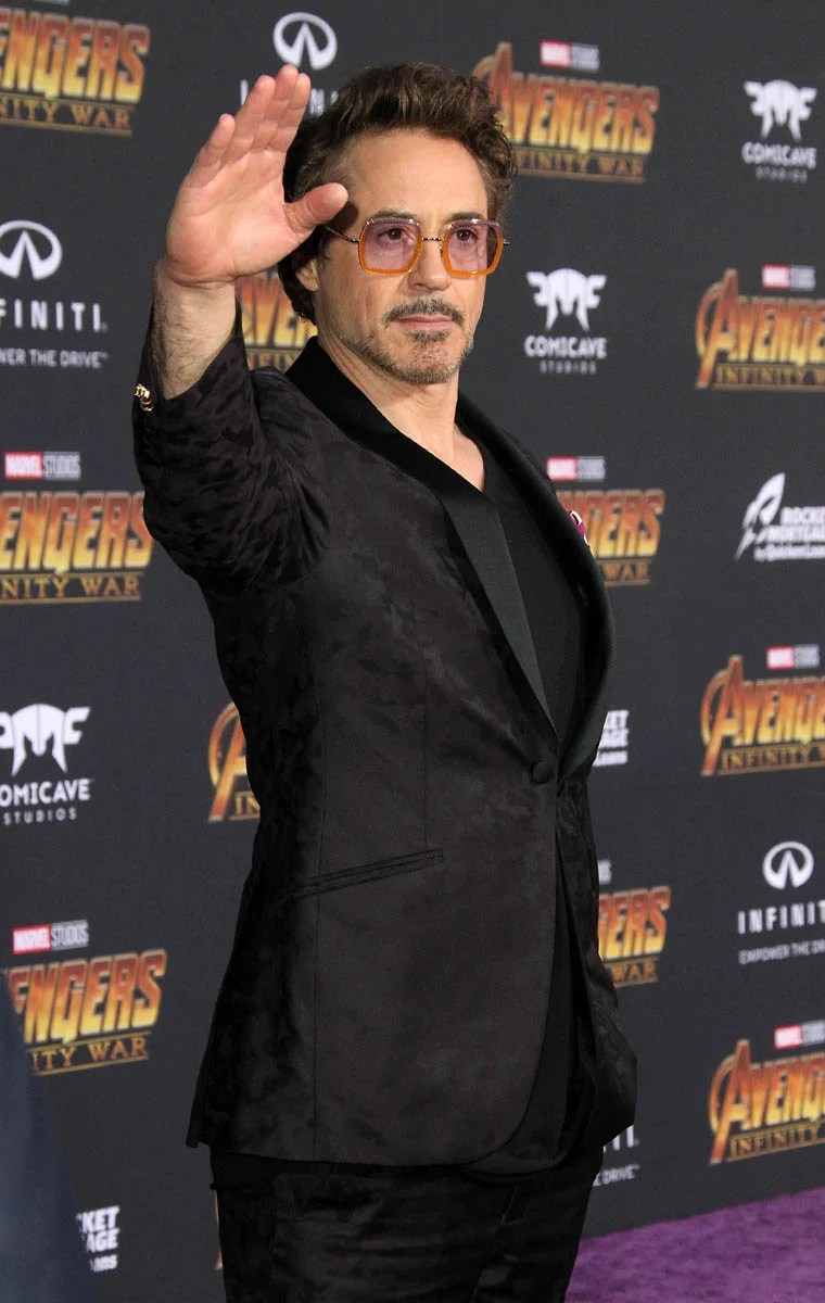 Robert Downey Jr and Gwyneth Paltrow at Avengers Infinity War premiere in LA