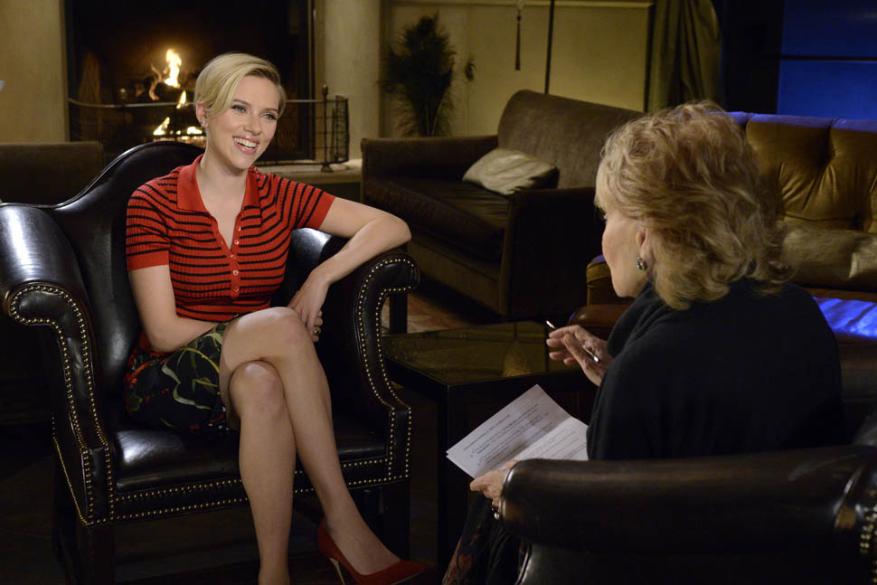 Scarlett Johansson With Barbara Walters 10 Most