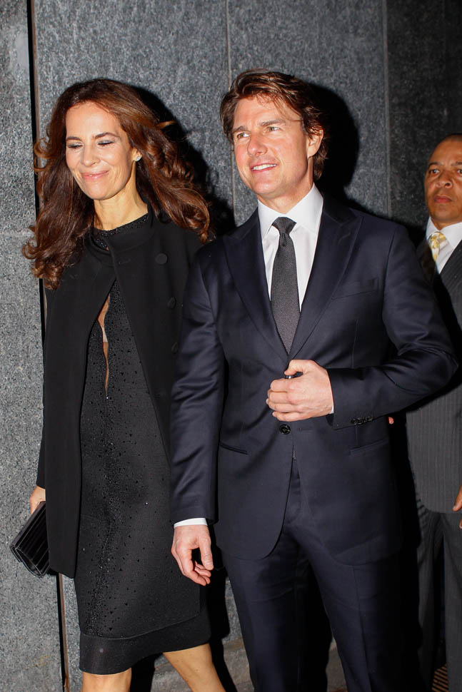 Tom Cruise in Milan for Giorgio Armanis 40th anniversary