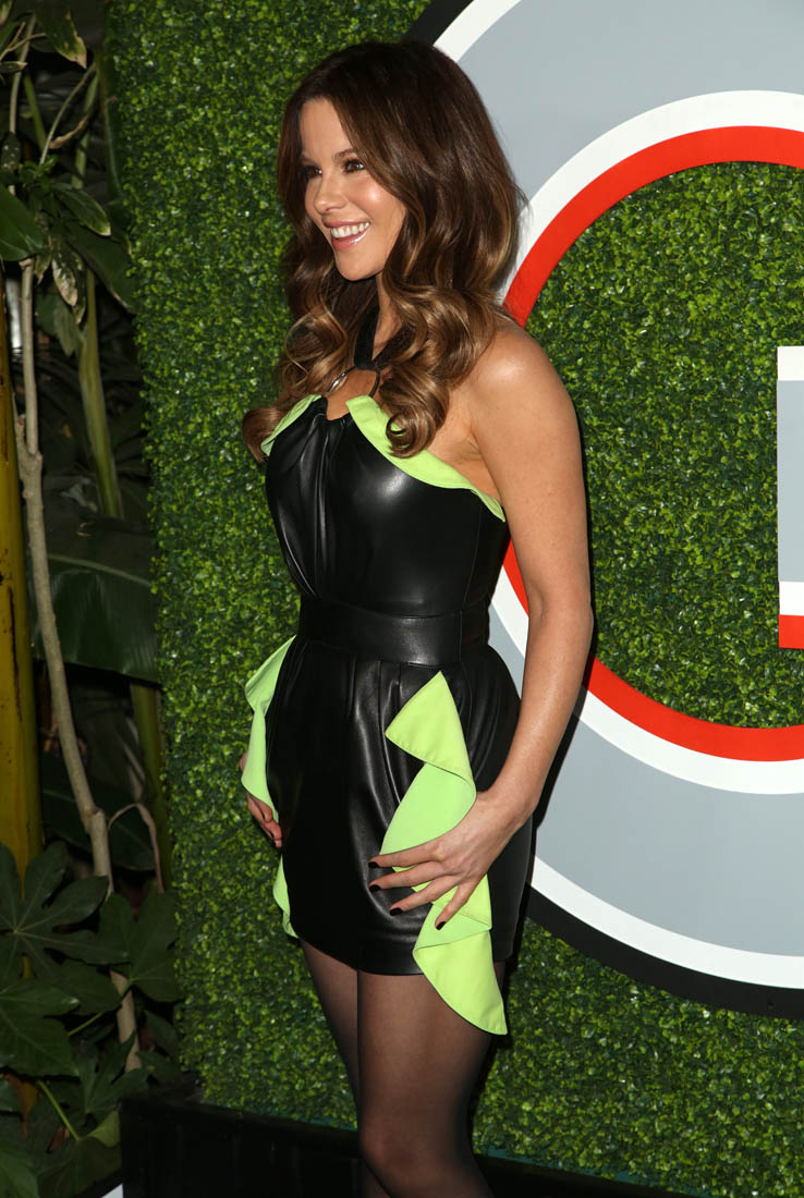 Kate Beckinsales almost leather jumpsuit