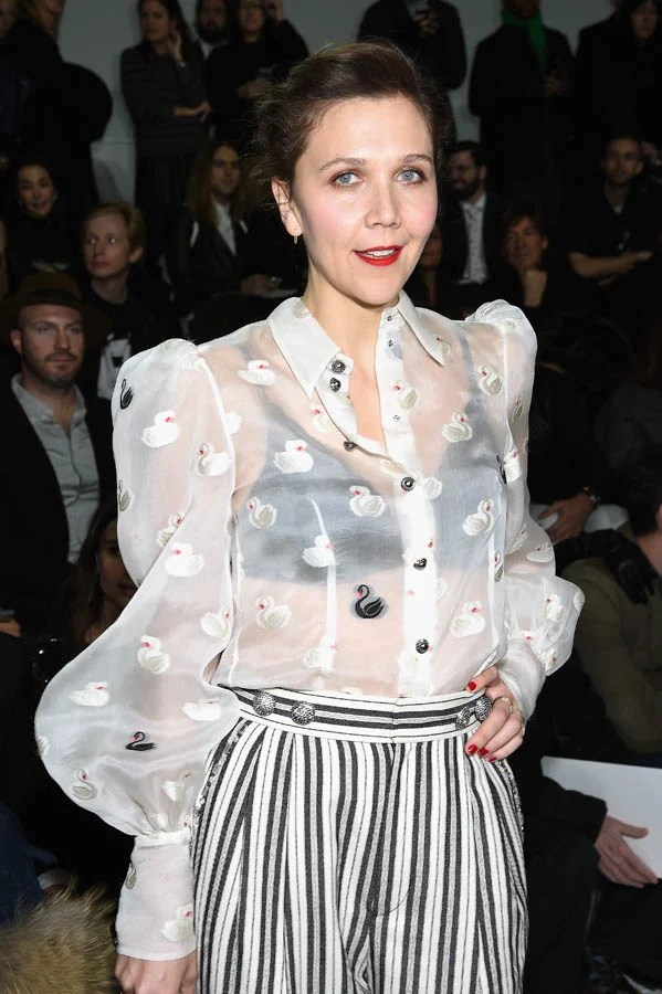 Maggie Gyllenhaals sheer blouse at NYFWLainey Gossip