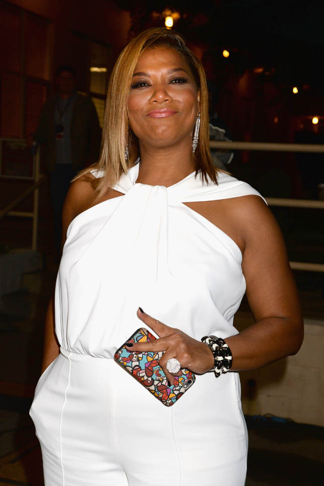 Queen Latifah's White Jumpsuit At The MTV Movie Awards