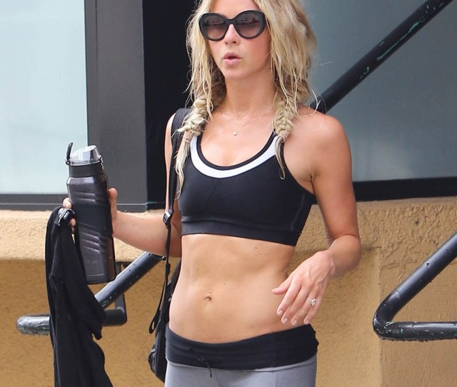 Julianne Hough Leaves The Tracy Anderson Gym In Los Angeles July