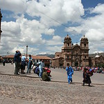 Festival day in Cuzco's Plaza des Armas.