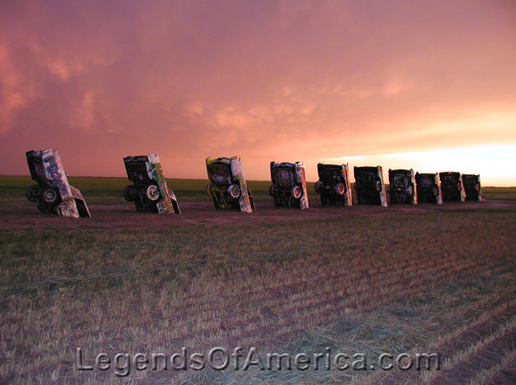 Legends of America Photo Prints: Texas Route 66 &emdash; Amarillo - Cadillac Ranch - 3