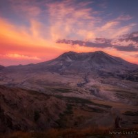 Magical Sunset by Mount St. Helens
