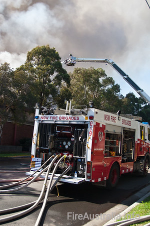 Pump 19 Silverwater at a Large Structure Fire in Silverwater
