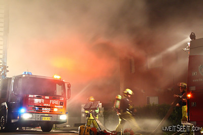 A chocolate factory in Marrickville, Sydney's Inner West , was destroyed by fire on New Years Day 2009. It was the second time the factory had burnt down.
