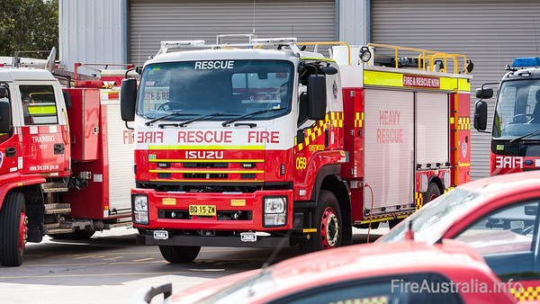 FRNSW R59 Eastwood Heavy RescueFRNSW R59 Eastwood Heavy Rescue, a new vehicle on Isuzu chassis. Photo at FRNSW Training College, November 2012
