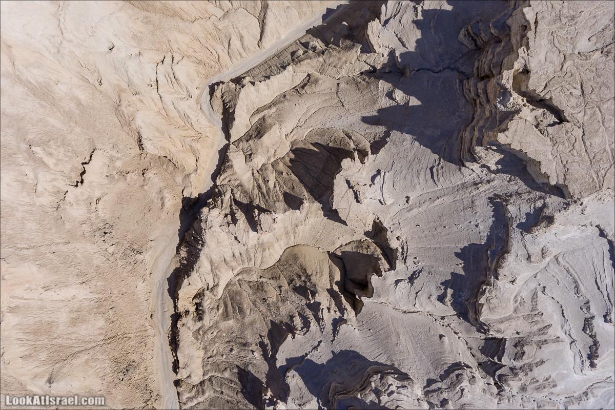 Ущелье Сдом - вид сверху (аеро съёмка) | LookAtIsrael.com - Фото путешествия по Израилю