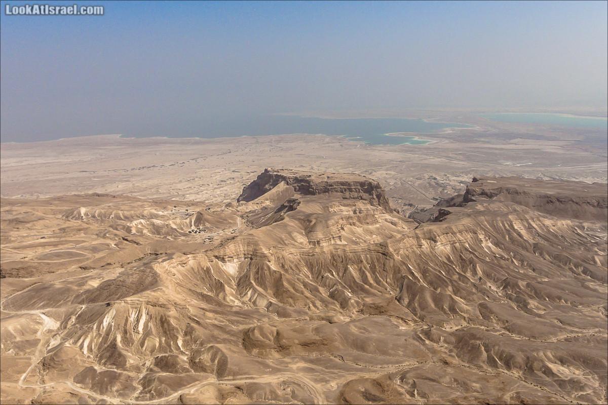 Крепость Масада с воздуха | LookAtIsrael.com - Фото путешествия по Израилю и не только...