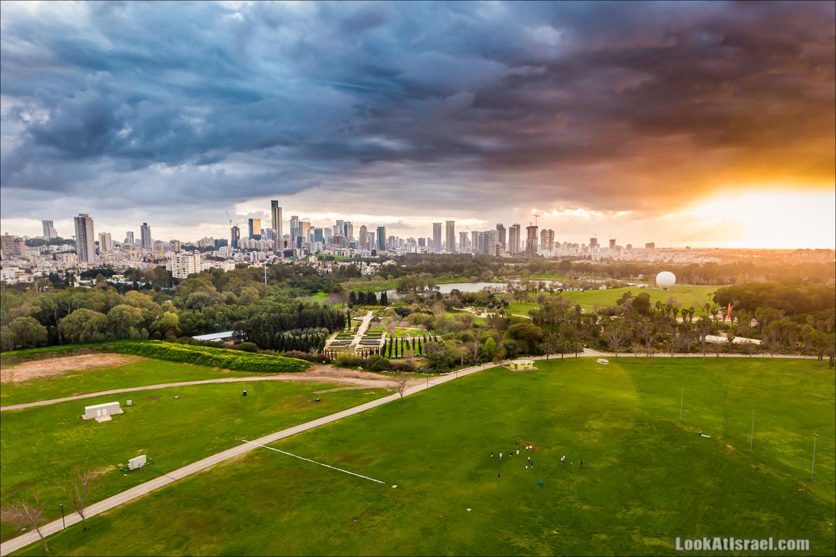 Вид на Тель-Авив, Рамат Ган и парк ха-Яркон   LookAtIsrael.com - Фото путешествия по Израилю