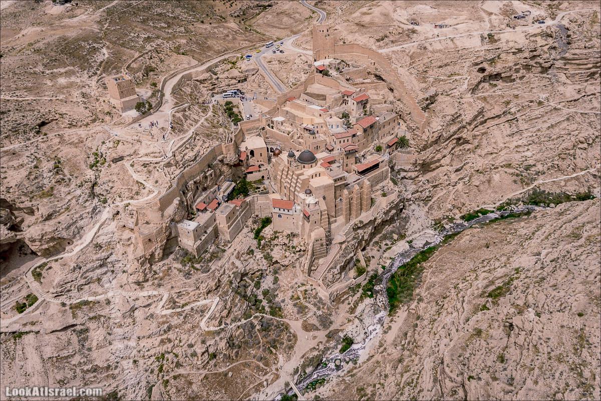 Монастырь Мар Саба в 4K аэро-съёмка | Mar Saba monastery 4K Aerial | LookAtIsrael.com - Фото путешествия по Израилю