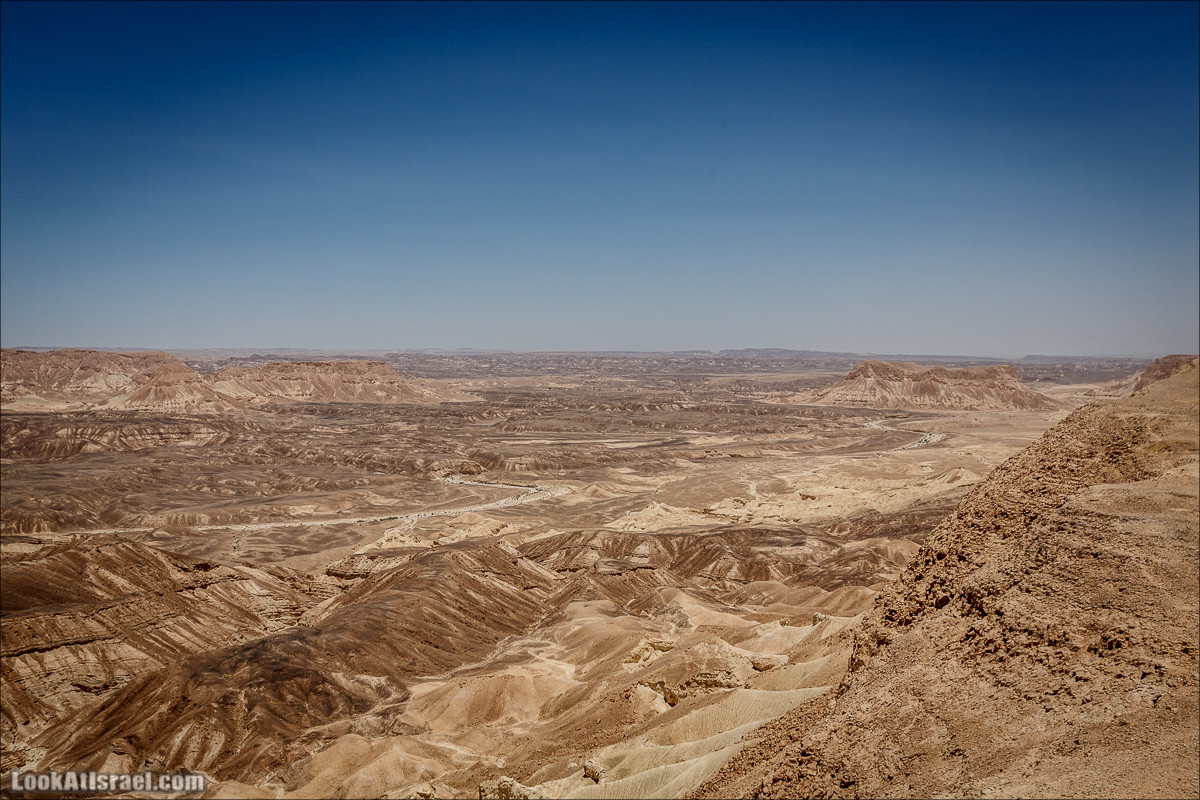 Гора Кипа - половина пустыни под ногами