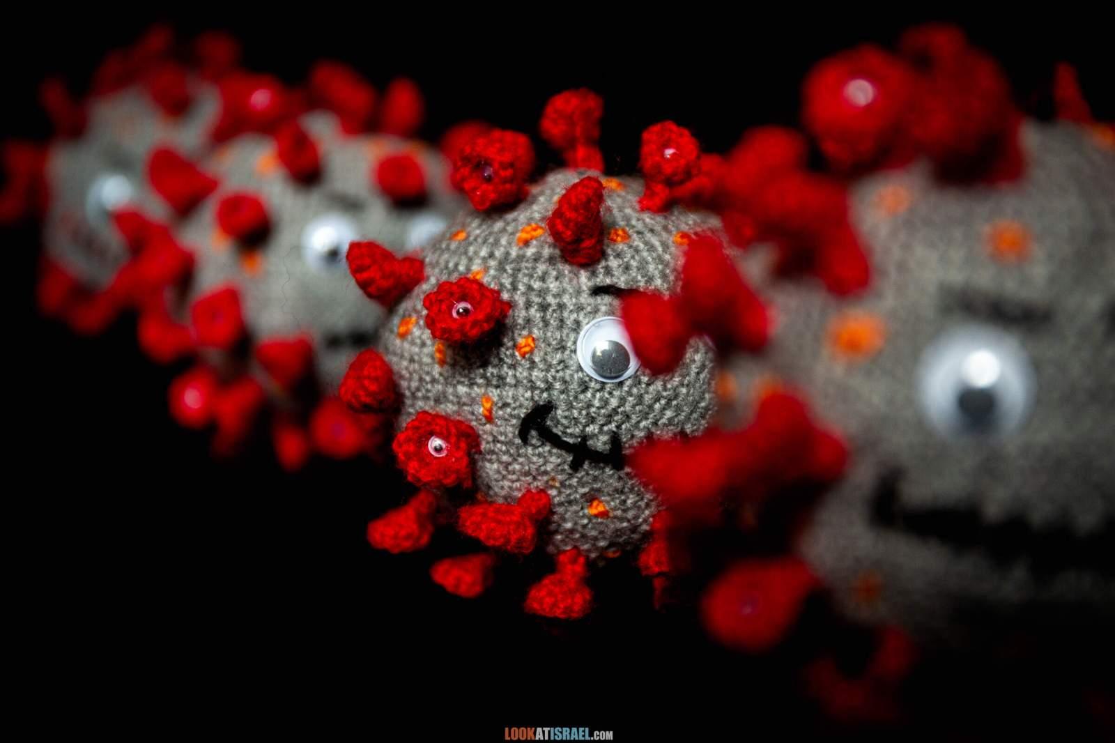 Корона вирус вязанная версия | Knited Corona virus COVID-19 |  LookAtIsrael.com - Фото путешествия по Израилю