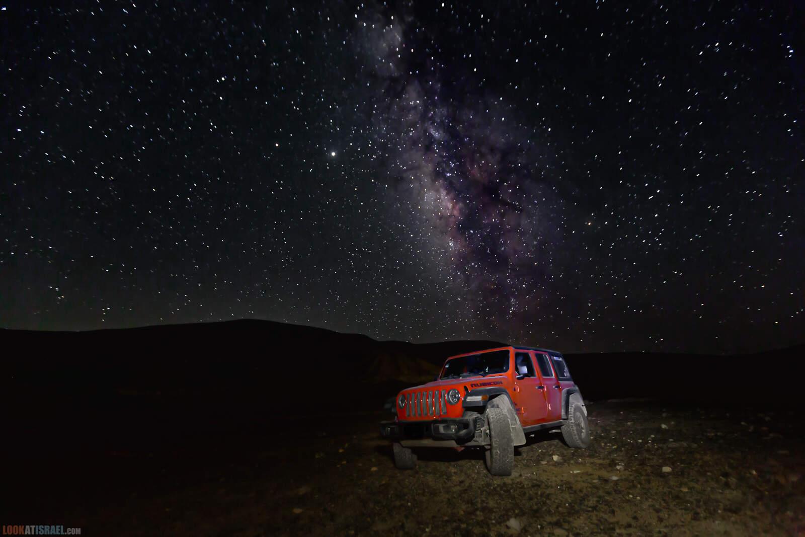 Млечный путь в пустыне, Махтеш Рамон, Израиль | Milky Way in desert, Makhtesh Ramon, Israel | שביל החלב במדבר, מכתש רמון