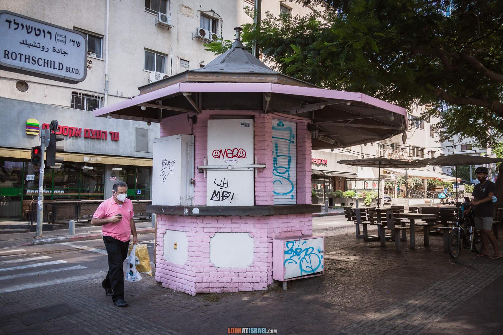 Тель-Авив, бульвар Ротшильд и театр Габими во время карантина