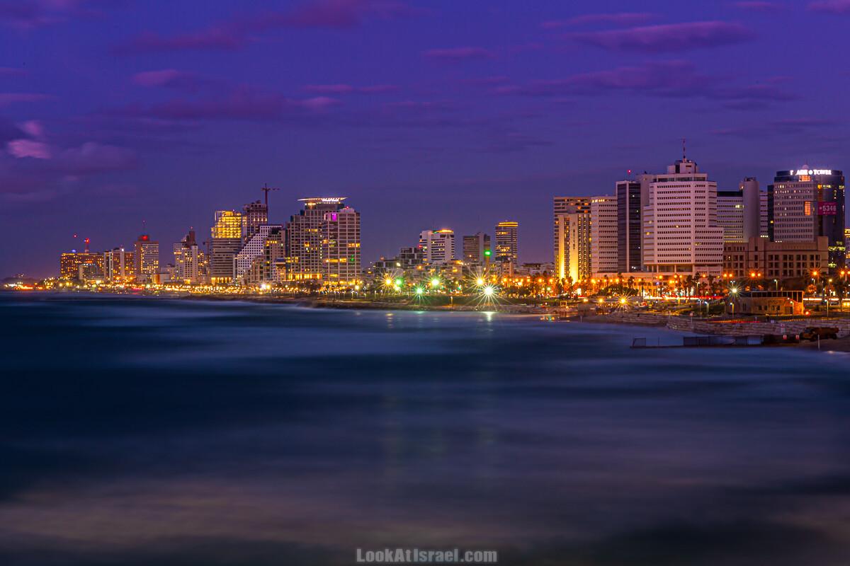 Ночной Тель-Авив | LookAtIsrael.com - Фото путешествия по Израилю