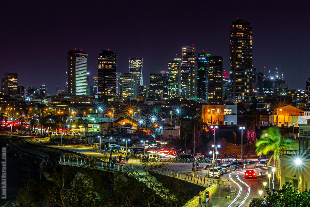 Тель Авив ночью