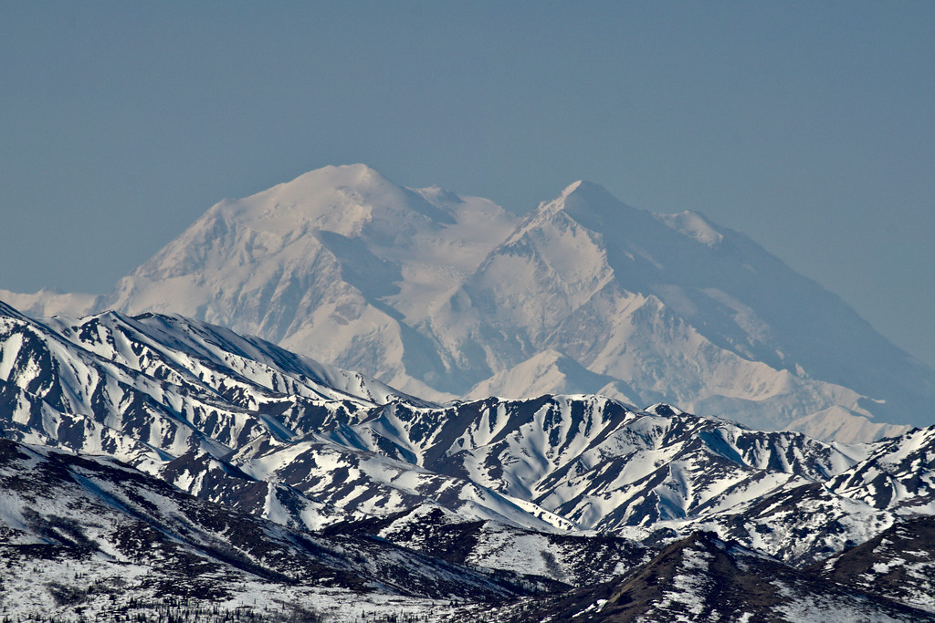 Denali through the mid-day haze