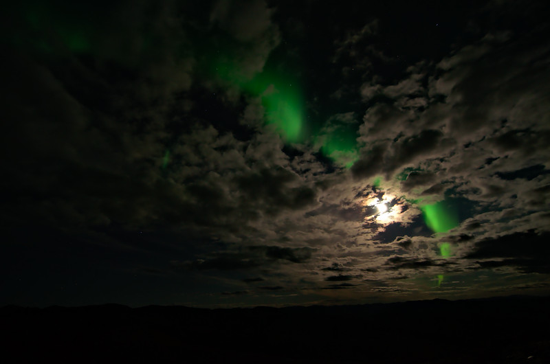 There were times that the aurora was nearly as bright as the moon.
