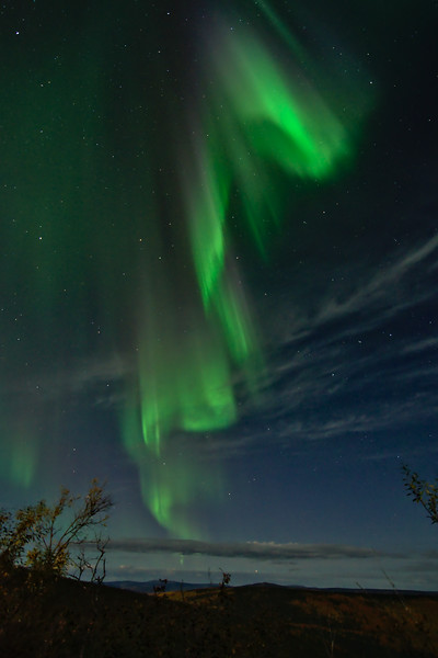Northern Lights near Cleary summit along the Steese Highway.