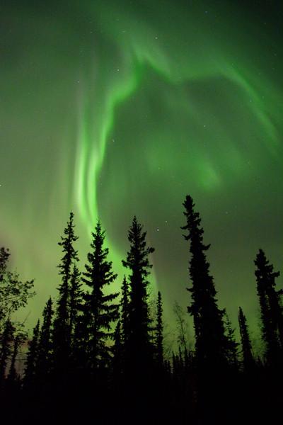 Aurora borealis breaks up